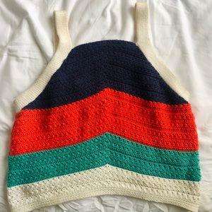 Crochet Color-block Croptop